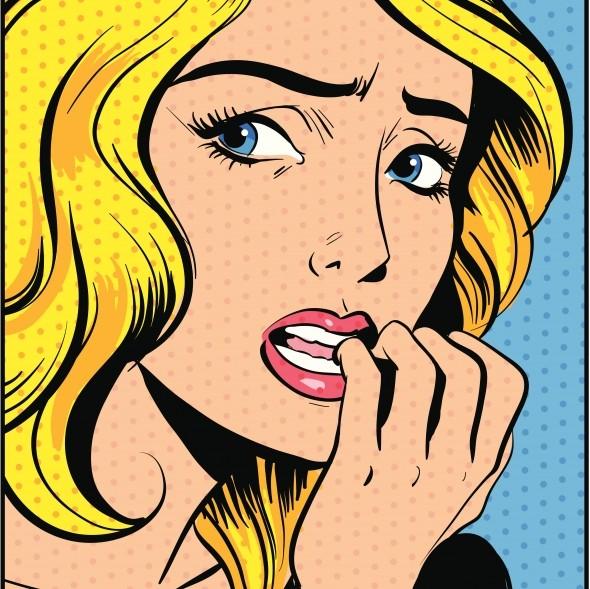 Femme inquiète