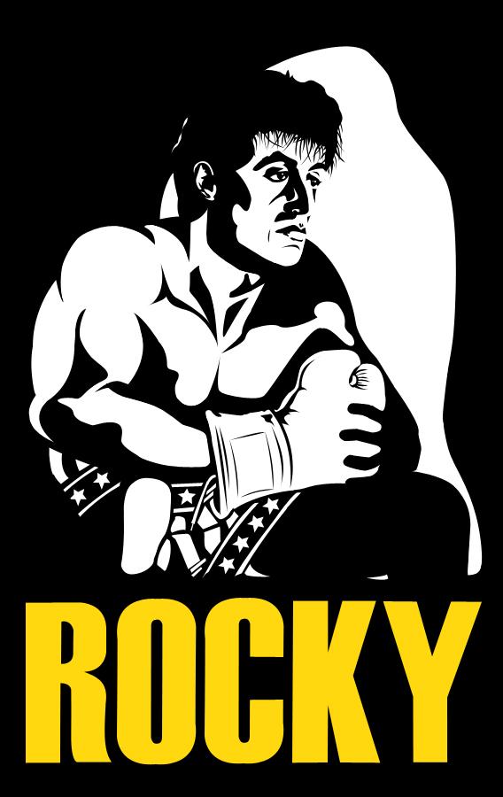 Dessin de Rocky Balboa